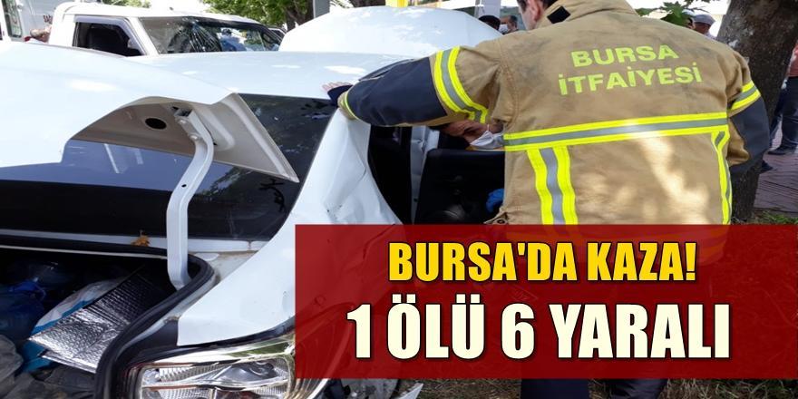 Bursa'da kaza! kamyonetle otomobil çarpışması sonucu 1 ölü, 6 yaralı